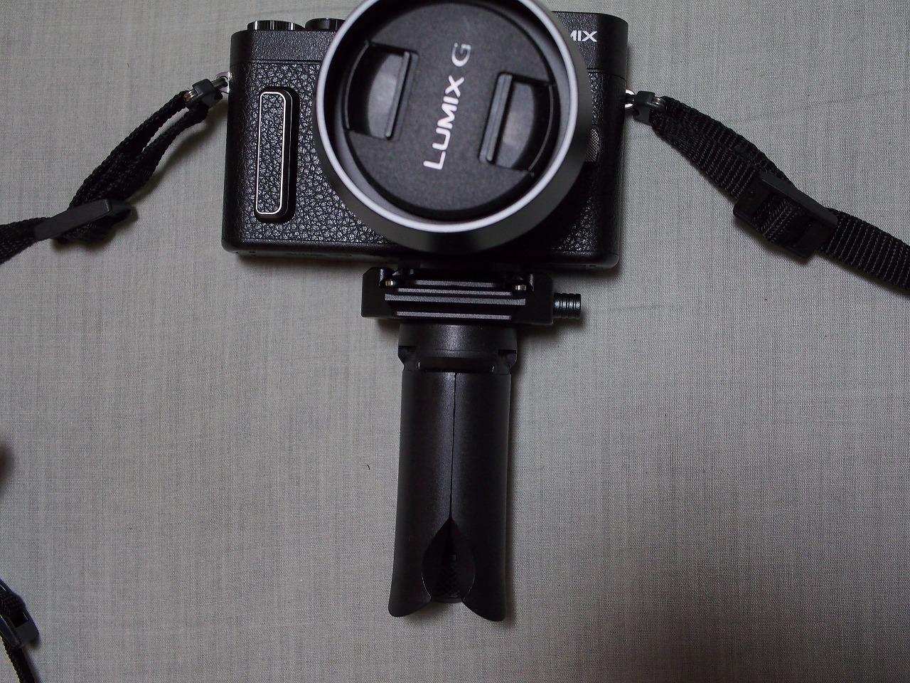 【カメラのハンドグリップ用】格安 卓上ミニ三脚を使ってみました